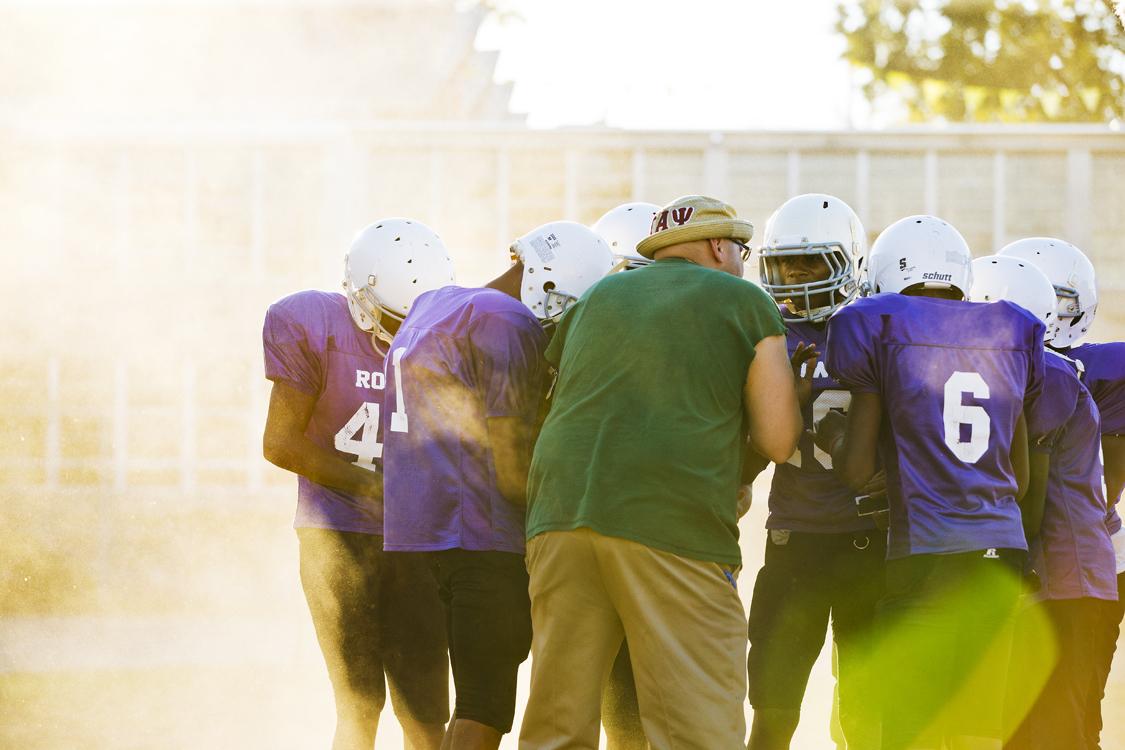 Football team field